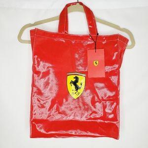 Ferrari Scudetto Medium Tote Bag Red OS